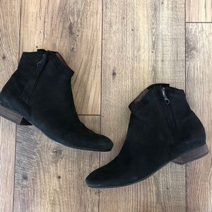 Sam Edelman Leather Ankle Boots Side Zippers
